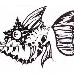 angelfish-queen-fish-tattoo-design