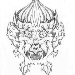 tribal-goblin-oni-tattoo-design