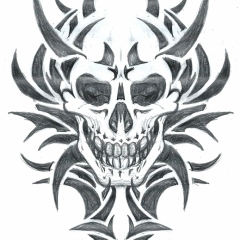 tribal-skull-tattoo-design