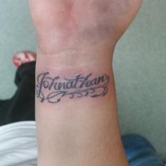 Johnathan Name Tattoo