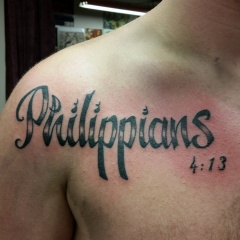 Philippians 4:13 Tattoo