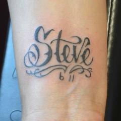 """""""Steve"""" Tattoo Lettering"""