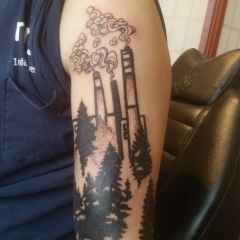 Industrial Factory tattoo