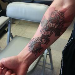 Memorial Cross Tattoo