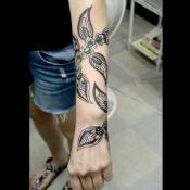 Mandala Floral Vine Tattoo