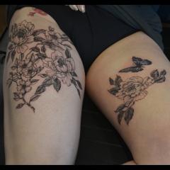Delicate Peony Tattoos
