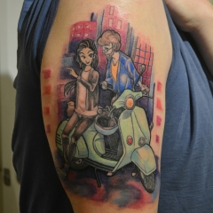 Anime Scooter Love Tattoo
