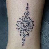 Unalome Sunflower Tattoo