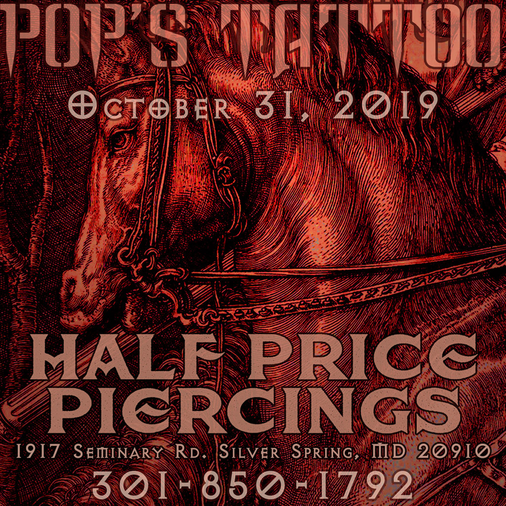 Pops Tattoo Halloween Piercing Specials