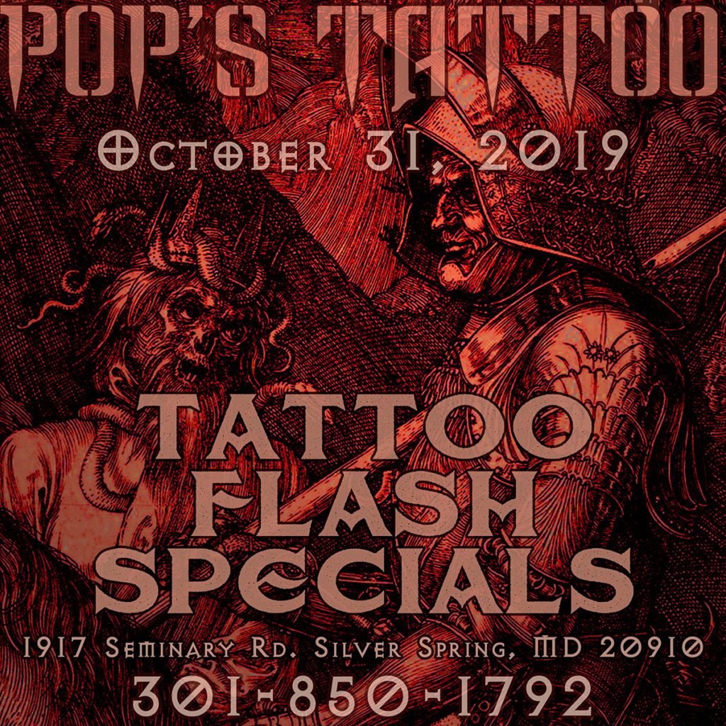 Pops Tattoo Halloween Flash Day Specials